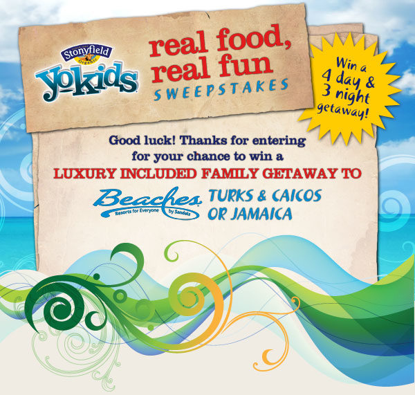 YoKids Real Food, Real Fun Sweepstakes!