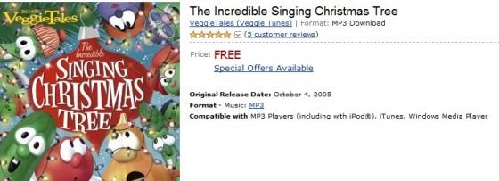 FREE VeggieTales -The Incredible Singing Christmas Tree