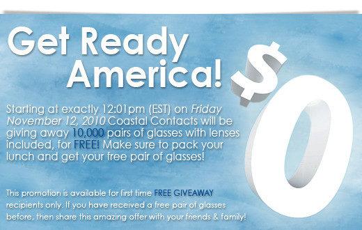 CoastalContacts.com Giving Away 10,000 FREE Glasses!