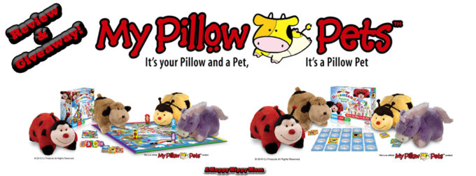 My Pillow Pets Plush Animals & Dreamland Board Games Review And Giveaway!