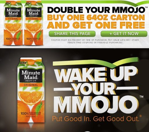 Buy 1 Get 1 Free Minute Maid!