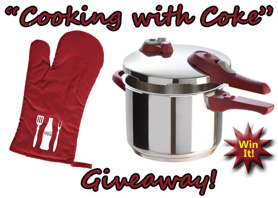 Cooking with Coke – Ingrid Hoffmann T-fal Stainless Pressure Cooker Giveaway!#WIN