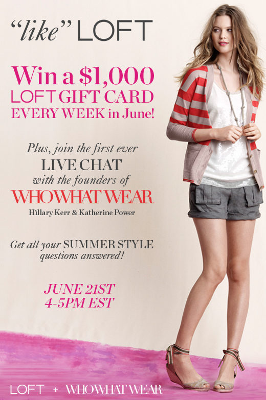 LOFT + WhoWhatWear.com Launch Summer Wardrobe Sweepstakes!
