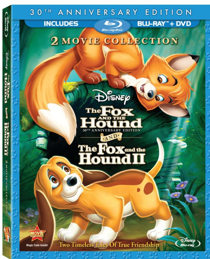 Disney's THE FOX AND THE HOUND 2-MOVIE COLLECTION on BLU-RAY & DVD August 9th & FREE Activities!