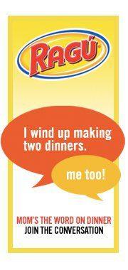 "Ragu ""Mom's the Word on Dinner,""  Online Community & $20 Visa GC Giveaway!"