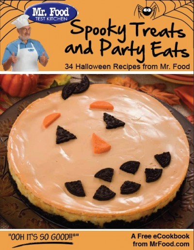 Mr foods free spooky treats party eats ebook a happy hippy mom mr food is offering downloads of the spooky treats party eats cookbook ebook for free the book contains 34 recipes featuring halloween themed drinks forumfinder Image collections