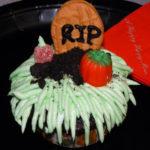 Halloween Cupcakes- Pumpkin Patch Graveyards!