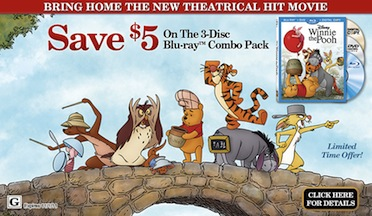Save $5 On Winnie The Pooh, Fun Movie Clips, and More!