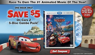 CARS 2 Discount Offer, Free activities , and MORE!