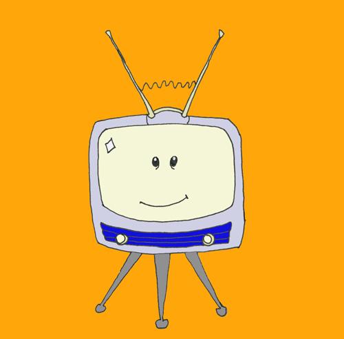 happy television set