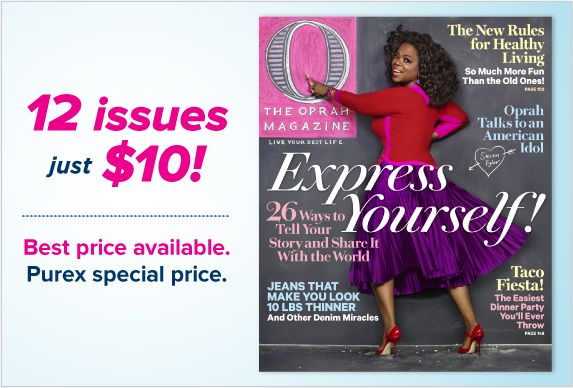 1 year subscription of O Magazine for only $10!