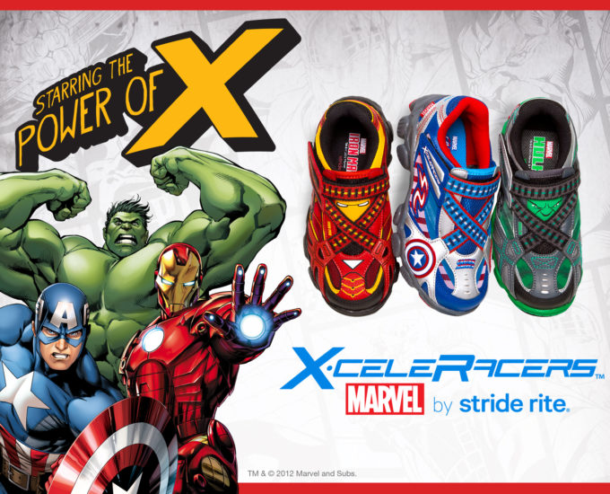 Marvel Super Heroes with New X-celeRacers Shoes by Stride Rite!