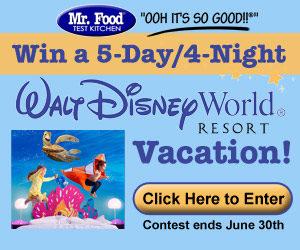 Mr. Food Disney Vacation Contest!