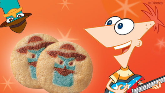 PhineasFerb Cookies