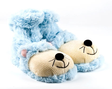 Blue Mouse Sock Slippers