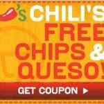 Chili's FREE Skillet Queso!