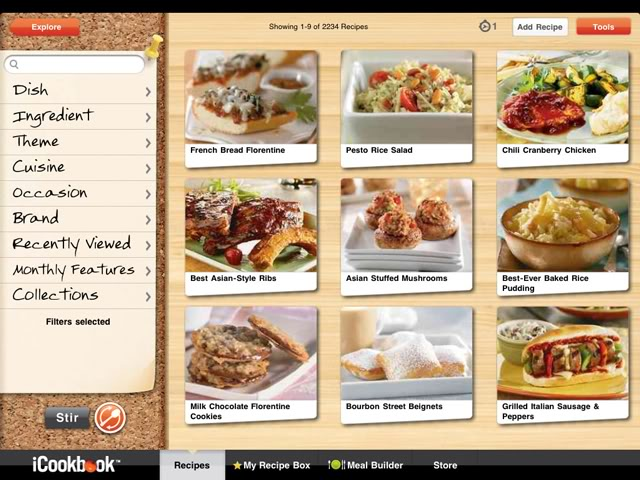 iCookbook screenshot