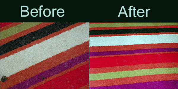rug before & after