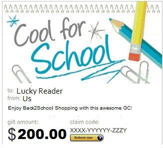 $200 Amazon.com Back-To-School Giveaway!  #back2school
