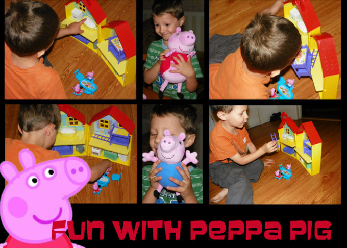 "New Peppa Pig Fisher-Price Toys, Book, and DVD at Toys ""R"" Us!"