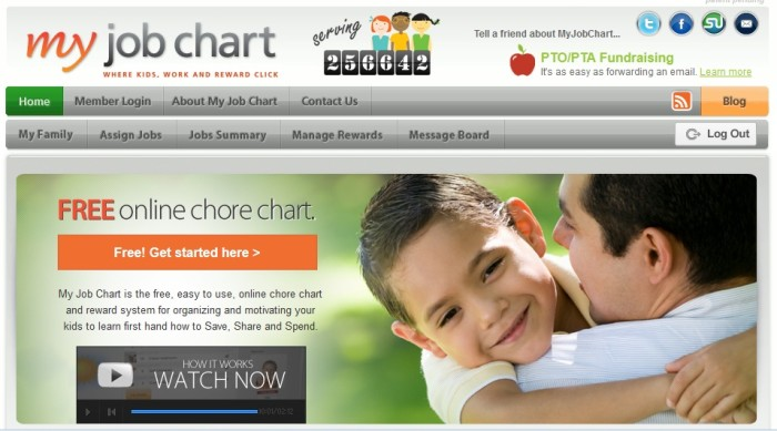 My Job Chart Splash Page