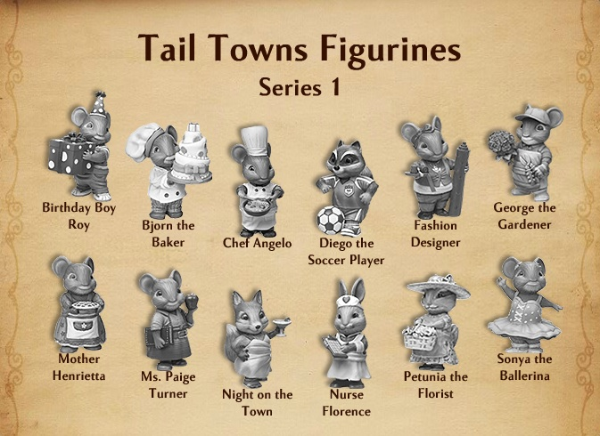 Tail Towns Figurines