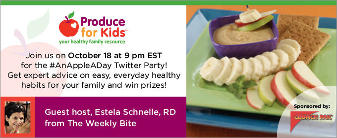 Produce For Kids Twitter Party! Win Prizes!  #anappleaday