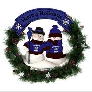 Day #10 of 60 Days of Exclusive Deals – Sports Snowman Wreath $14 Shipped