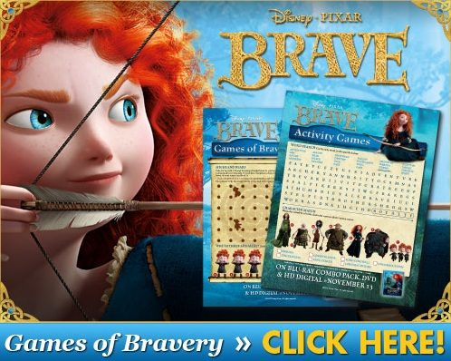 FREE Brave-themed printable Puzzlers and Games of Bravery!