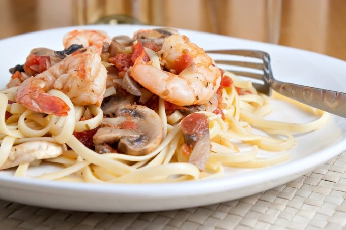 Champagne Shrimp and Angel Hair Holiday Recipe