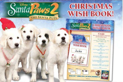 Create a Christmas Wish Book – Santa Paws 2: The Santa Pups FREE Printable!