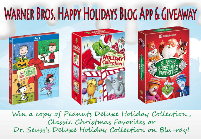 Warner Bros. Happy Holidays Blog App & Giveaway!  #WBHoliday