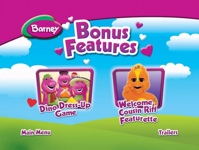 Barney We Love Our Family Bonus Features