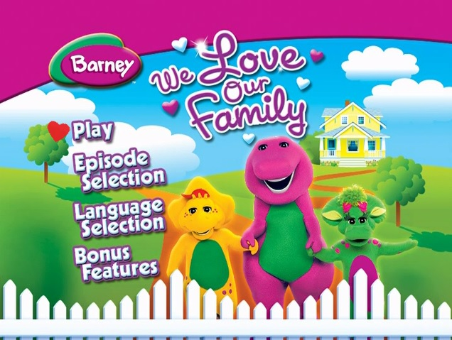 Barney We Love Our Family