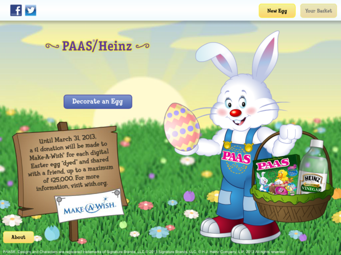Make-A-Wish PAAS Heinz Easter Egg Decorator App. & New PAAS Kits
