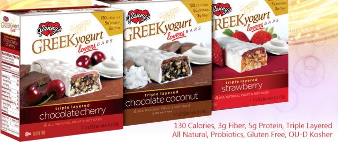 New Product Alert – Glenny's Greek Yogurt Lovers Bars!