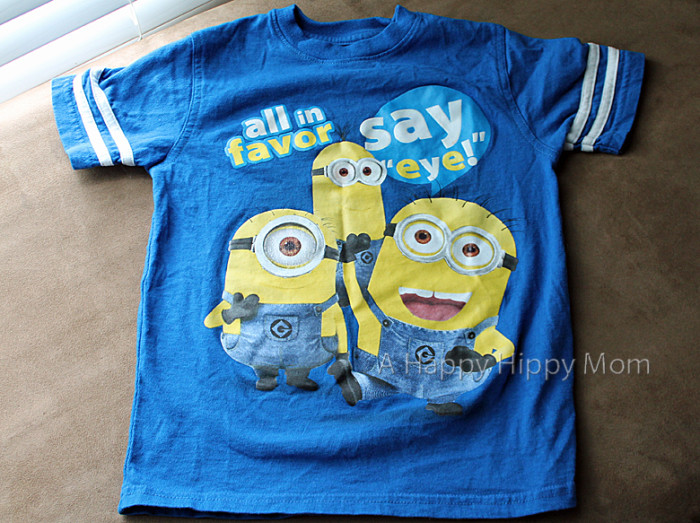 Despicable Me 2 minion t-shirt