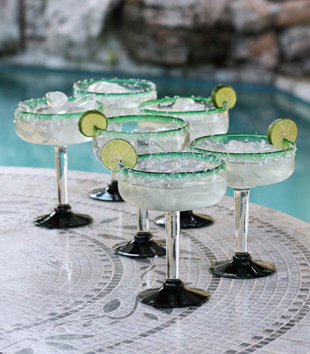 Eco Happy Hour Margarita Glasses