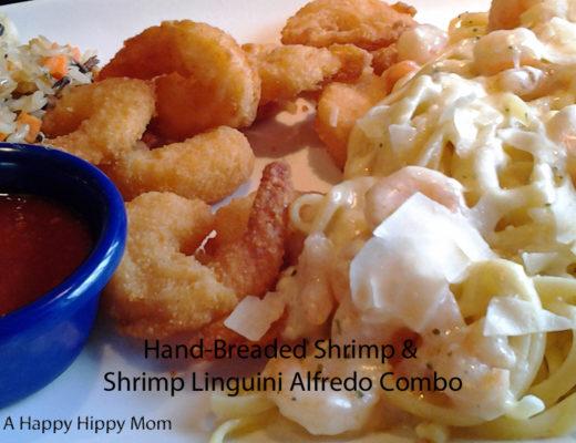 Hand-Breaded Shrimp & Shrimp Linguini Alfredo