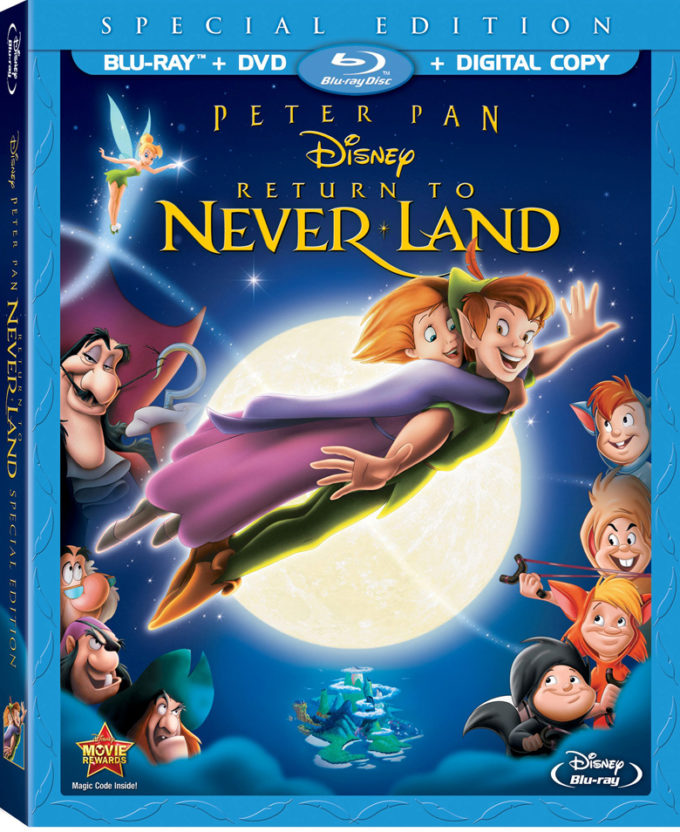 Disney Peter Pan Return To Never Land Blu-ray Combo Pack Review!