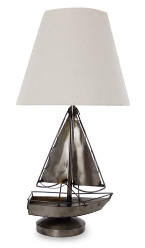 Rustic Sailboat Lamp