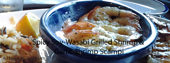 Spicy Soy-Wasabi Grilled Shrimp & Garlic Shrimp Scampi