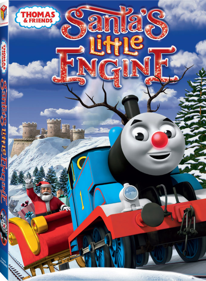 Thomas and Friends Santa's Little Engine Review, Free Coloring Sheet, & Giveaway!
