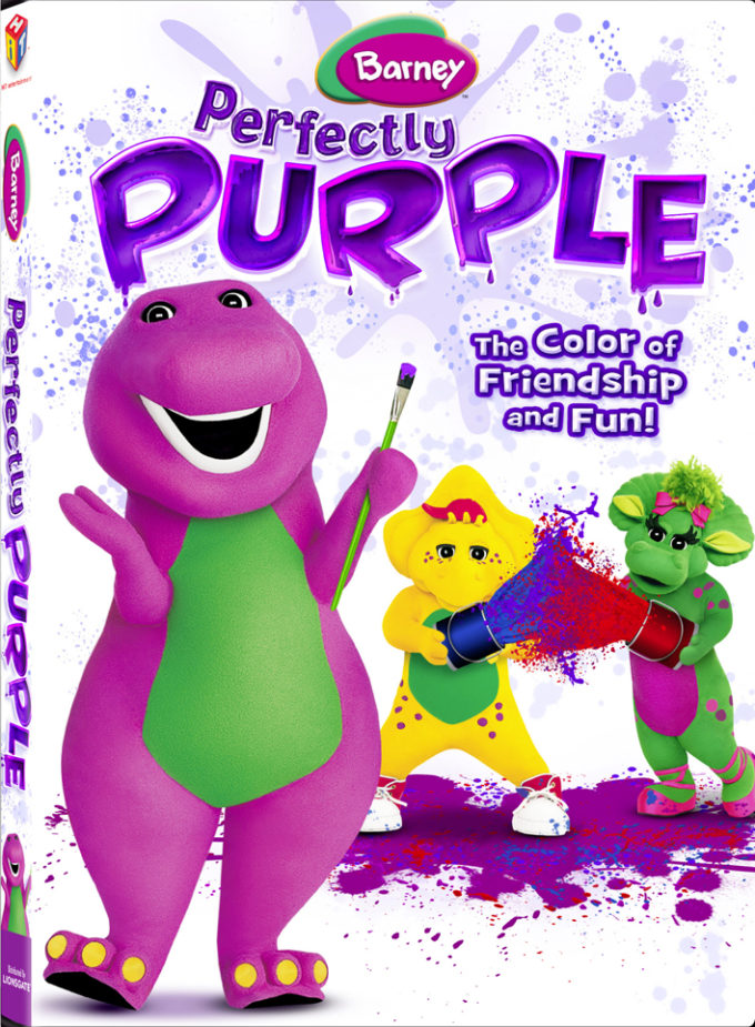 Barney Perfectly Purple DVD Review, Free Coloring Sheet & Giveaway!