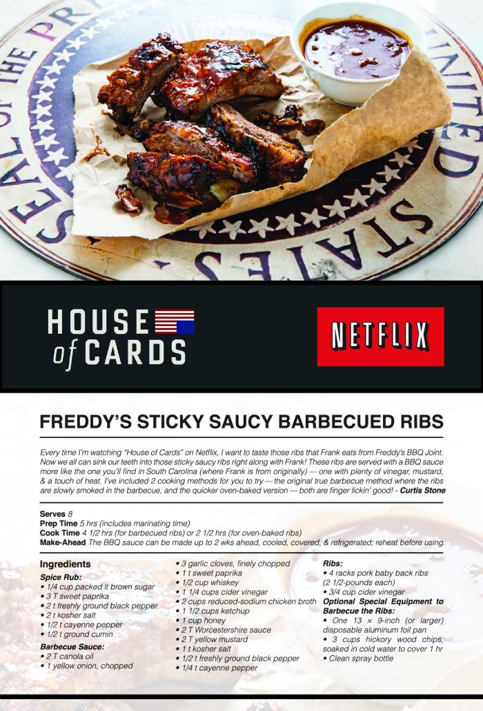 Freddy's Sticky Saucy Ribs Recipe