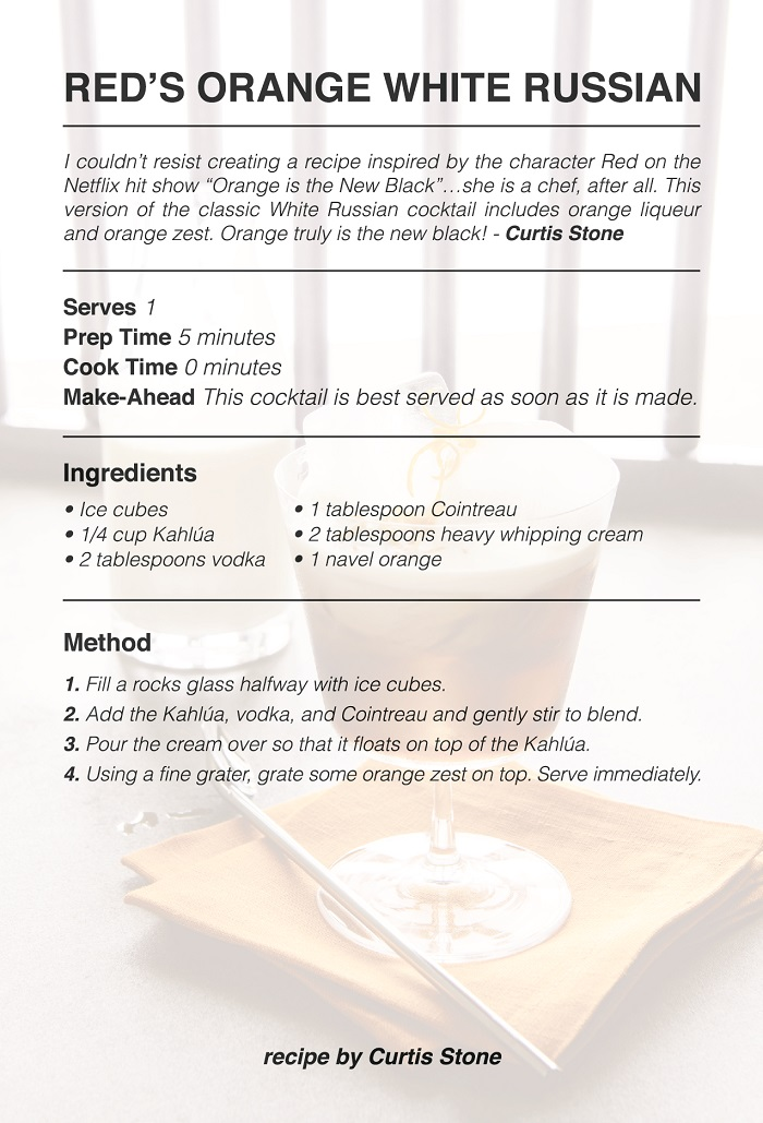 Red's Orange White Russian Recipe