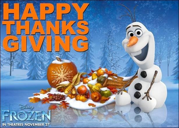 Happy Thanksgiving from Disney FROZEN! #DisneyFrozen