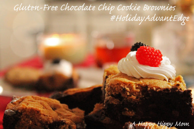 Easy Holiday Recipes- Gluten-Free Chocolate Chip Cookie Brownies #HolidayAdvantEdge #shop #cbias