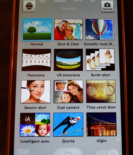 LG G2 Camera options