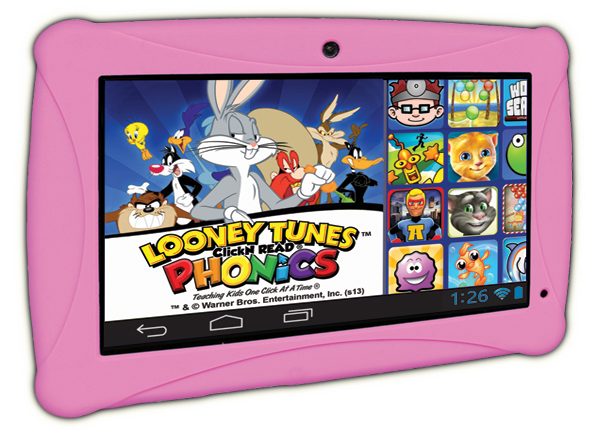 Pink Clickn kids tablet